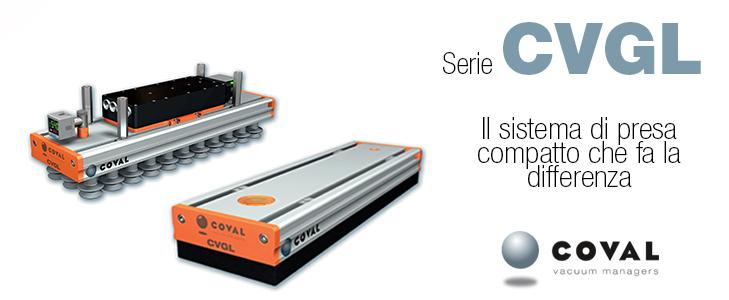 Sistemi di presa compatti e leggeri, serie CVGL COVAL