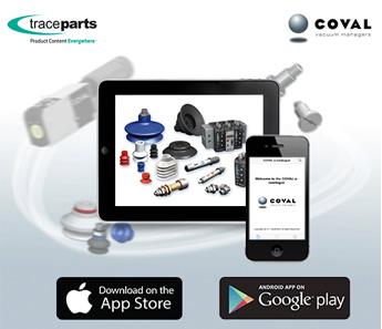 COVAL lancia la sua applicazione mobile con TraceParts